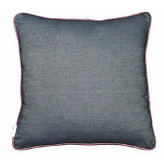 Denim scatter cushion with grape piping
