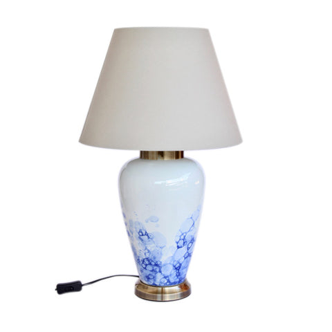 Blue Blob Lamp Grey Shade