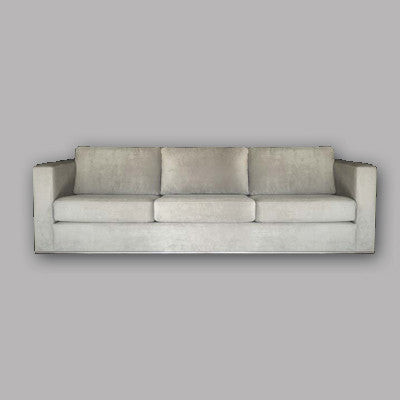 Sofa upholstered with Hertex fabric of choice