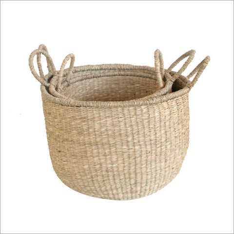 Set of 3 Rustic Baskets