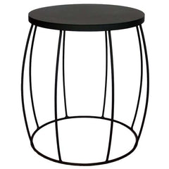 Barrel Side Table Charcoal