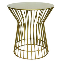 Drum Side Table Gold