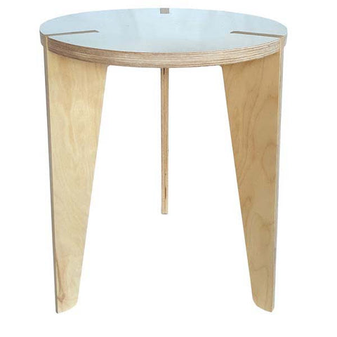 Birch Side Table White Top