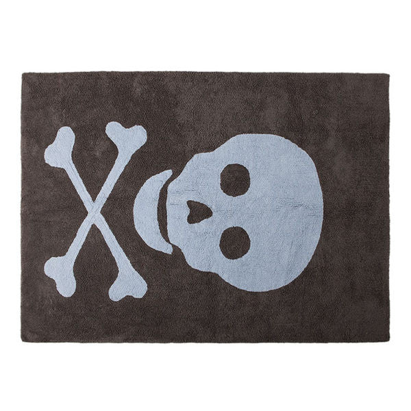 Skull Rug in Blue Colour