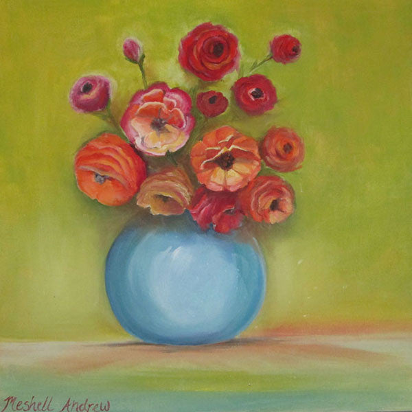 Bowl of Poppies | Meshell Andrew Paintings