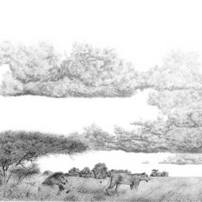 ' Hunters twilight' Pencil Art