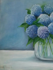 hydrangeas floral oil painting