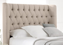 Winged Deep Button Headboard