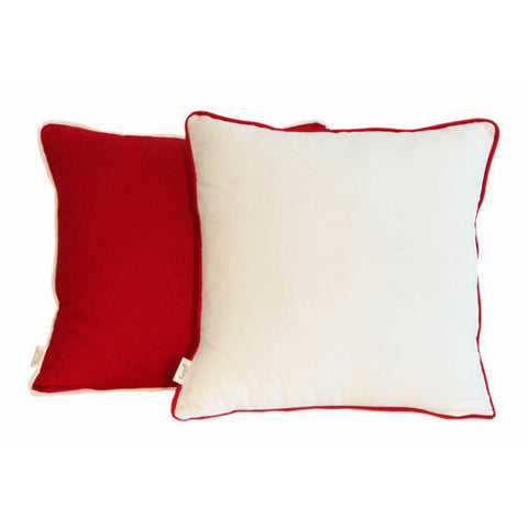 'Pop' Red & White Scatter Cushion