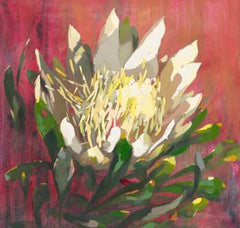 Protea in white | Painting