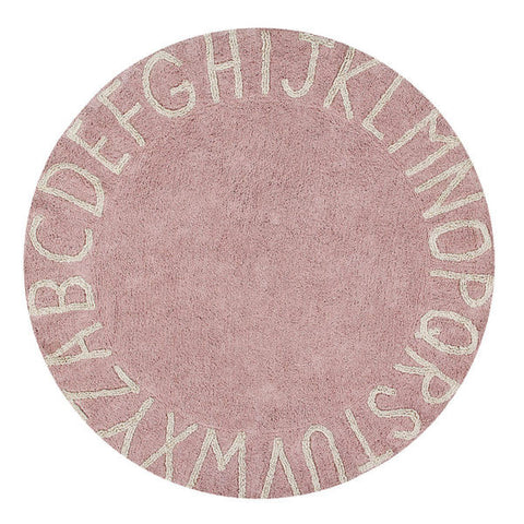 Round ABC Rug - Nude Pink