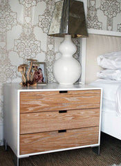 White Washed Pedestal | Bedside Tables and Bedroom Furniture