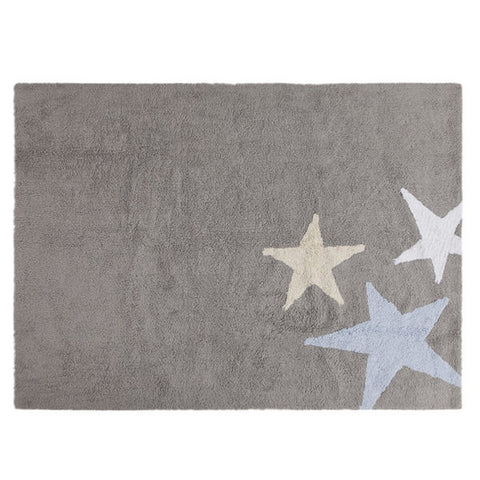 Three Stars Rug - Blue