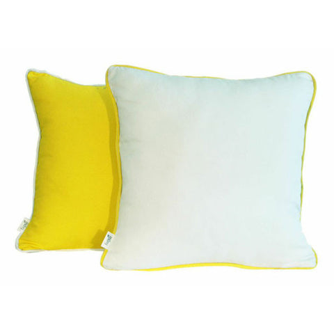 'Pop' Yellow & White Scatter Cushion