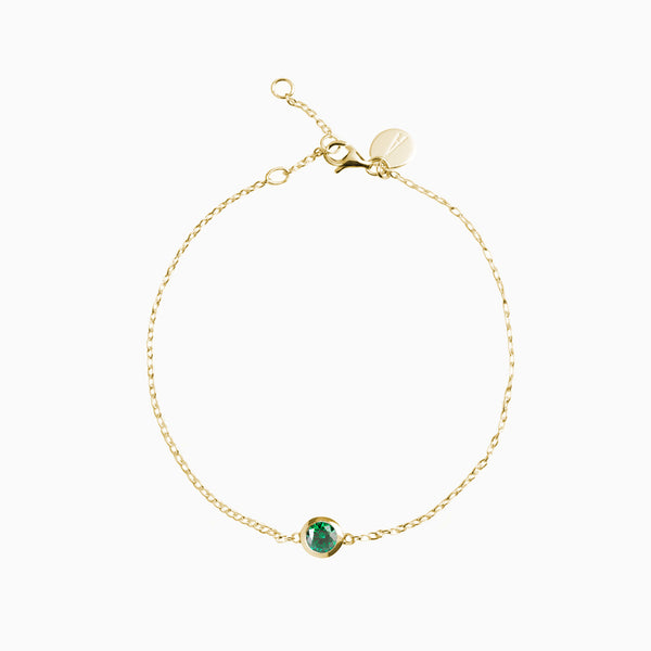 Iconic Gold Zirconia Emerald Bracelet