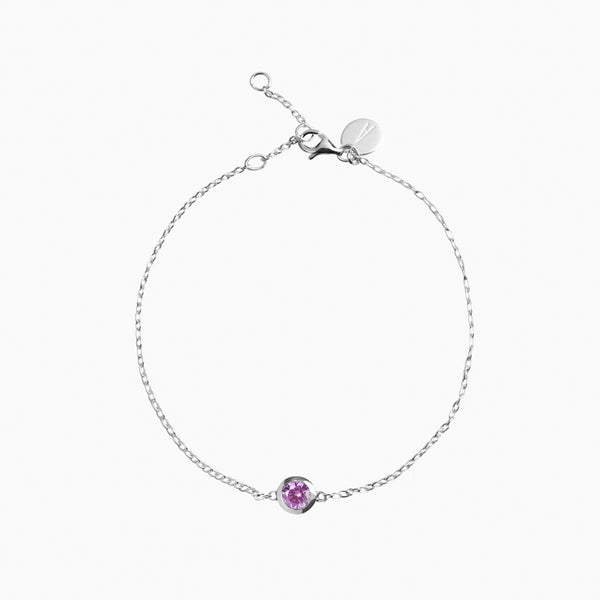 Iconic Silver Zirconia Purple Bracelet