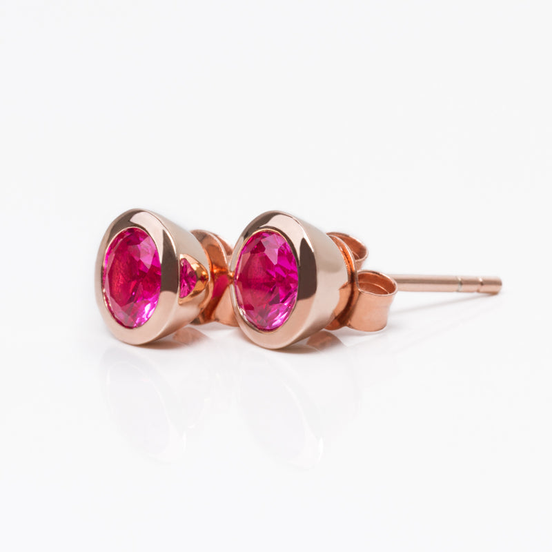 Iconic Rose Gold Zirconia Pink Earrings