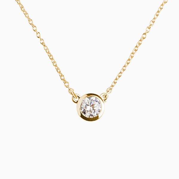 Iconic Pendant Gold Zirconia White