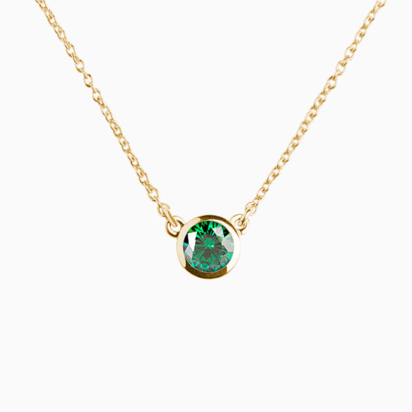 Iconic Pendant Gold Zirconia Emerald