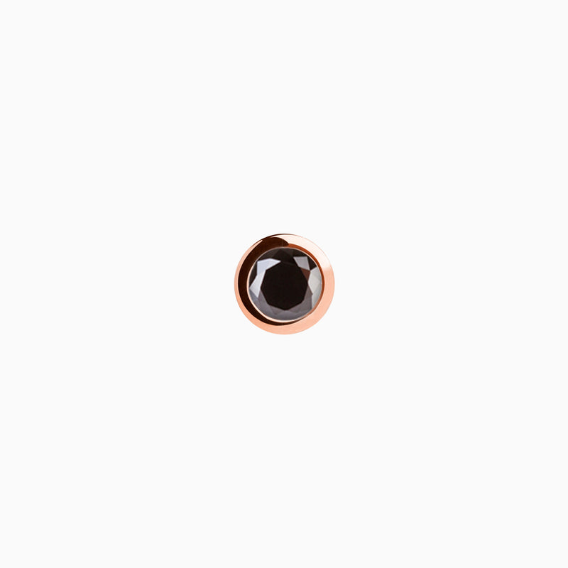 Iconic Rose Gold Zirconia Black Piercing