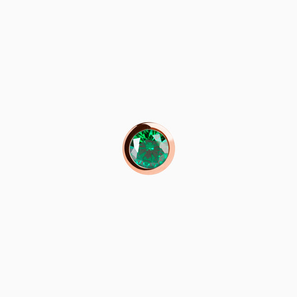 Iconic Rose Gold Zirconia Emerald Piercing