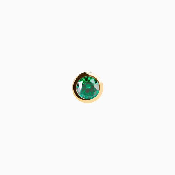 Iconic Gold Zirconia Emerald Piercing