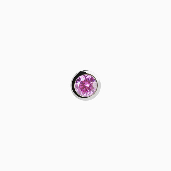 Iconic Silver Zirconia Purple Piercing