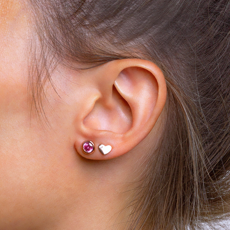 Iconic Rose Gold Zirconia Pink Piercing