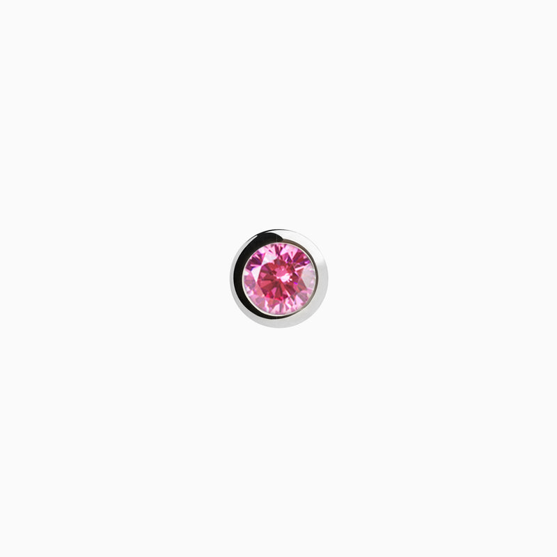 Iconic Silver Zirconia Pink Piercing