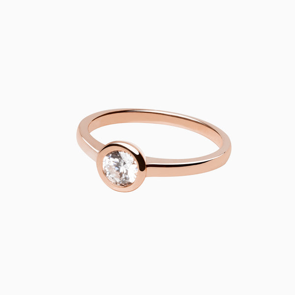 Ring Iconic White Zirconia Rose Gold