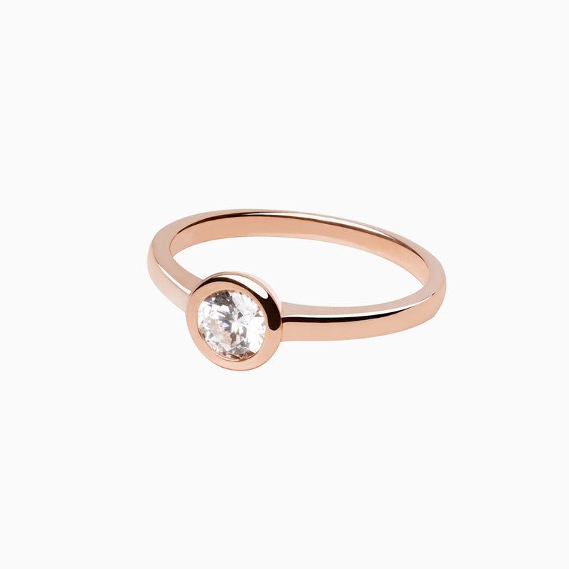 Iconic Ring Rose Gold Zirconia White