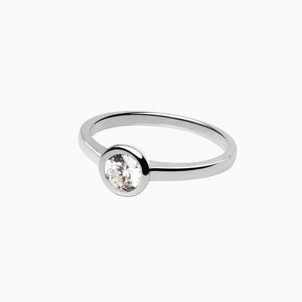 Iconic Ring Silver Zirconia White