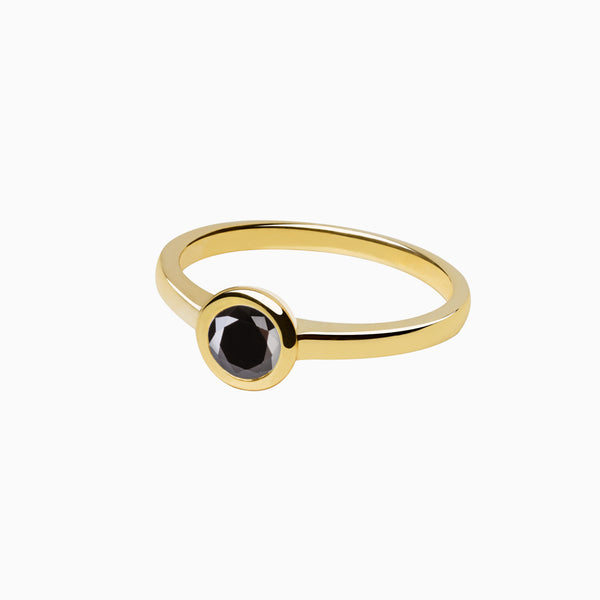 Ring Iconic Black Zirconia Gold