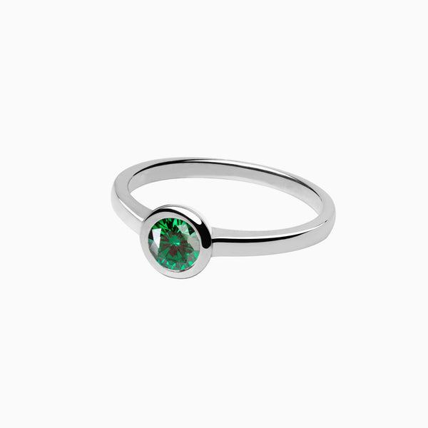 Iconic Ring Silver Zirconia Emerald
