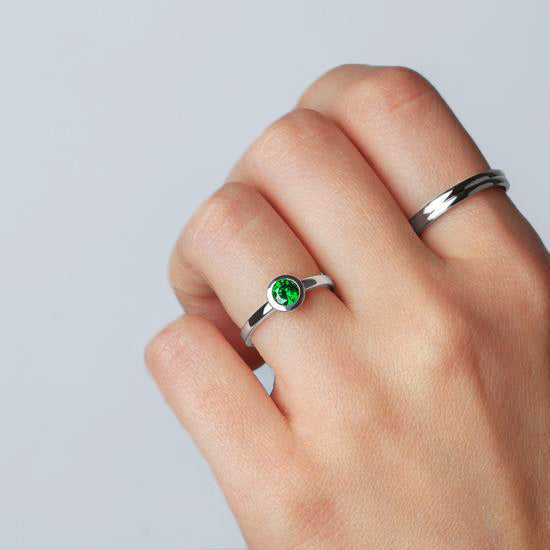 Ring Iconic Emerald Zirconia Silver