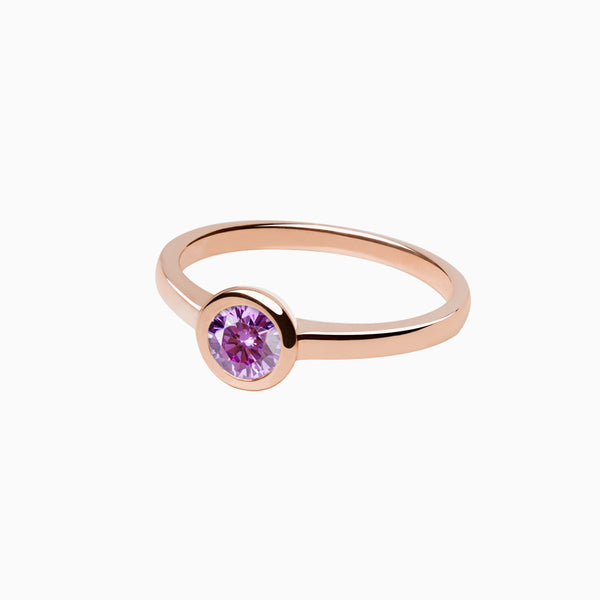 Ring Iconic Purple Zirconia Rose Gold