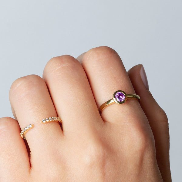 Ring Iconic Purple Zirconia Gold