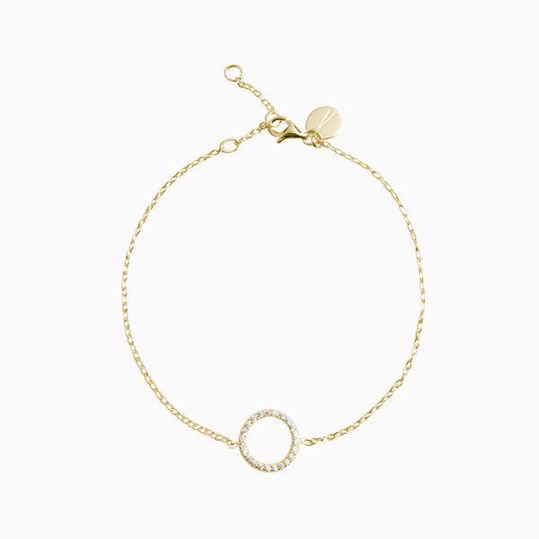 Stylish Gold Zirconias Gold Bracelet