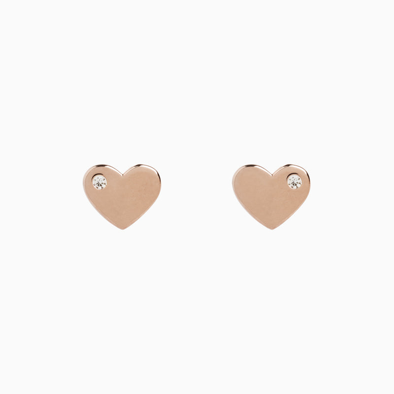 Infinity Rose Gold Earrings