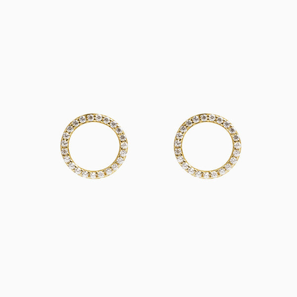 Stylish Zirconia Gold Earrings