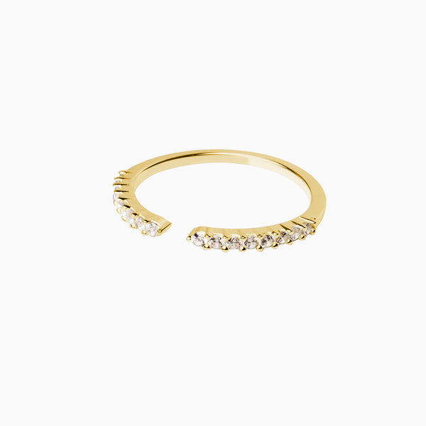 Stylish Zirconia Gold Ring
