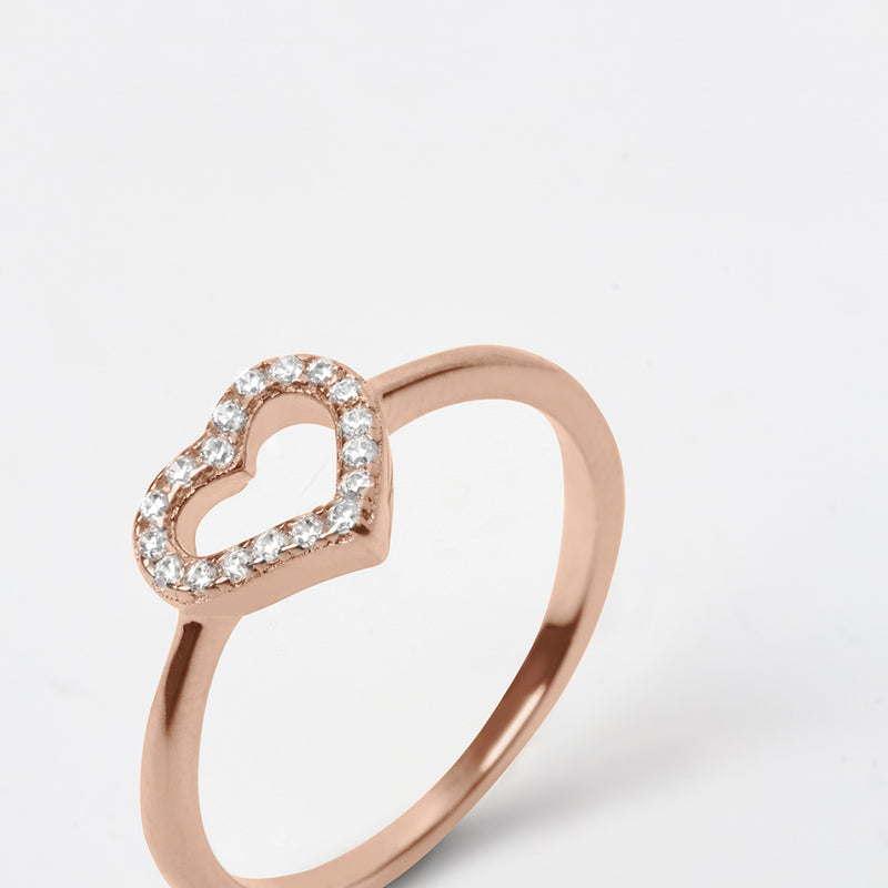 Infinity Gold Rose Ring