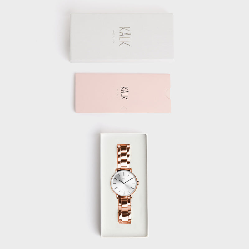 Classy Rose Gold / White Watch
