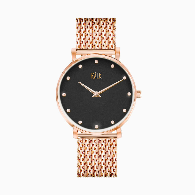 Dreamy Rose Gold / Black Watch