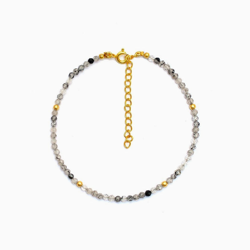 Bracelet Grey Quartz Gold