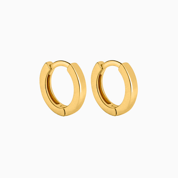 Square Hoop Earrings Gold