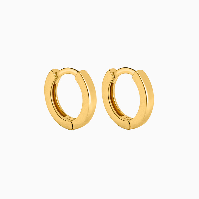 Square Gold Ring Earrings