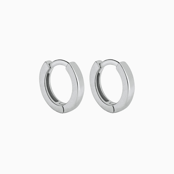 Square Hoop Earrings Silver