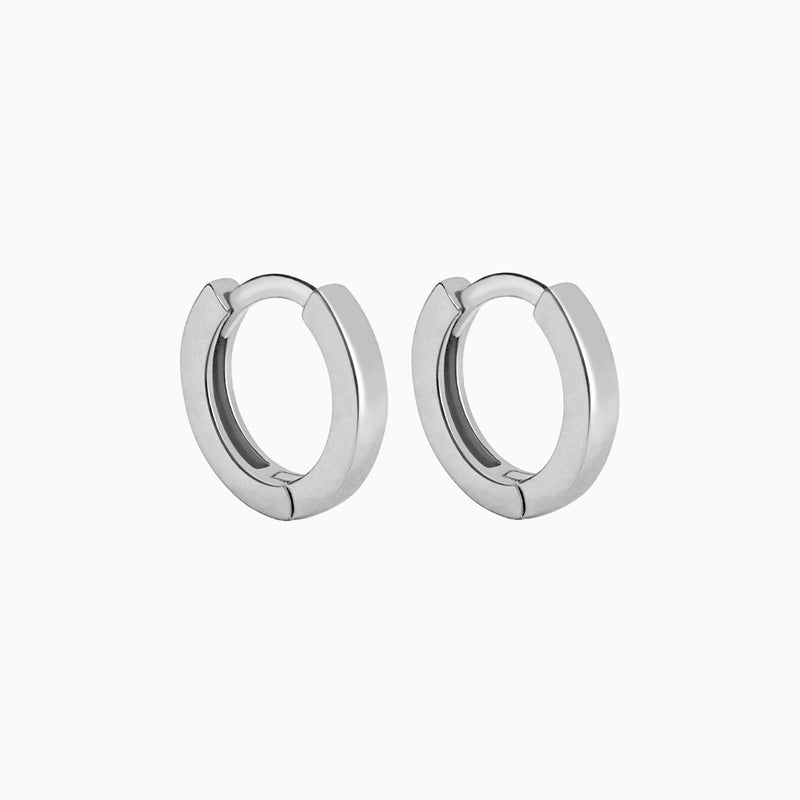 Square Silver Ring Earrings