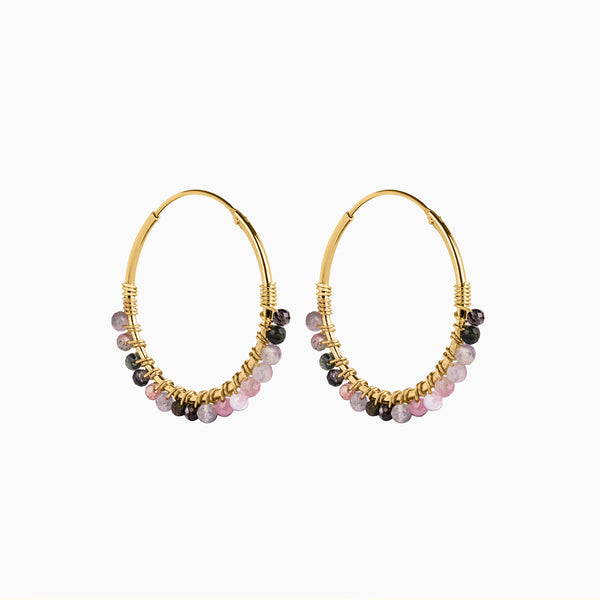 Paradise Sweety Hoop Earrings Gold